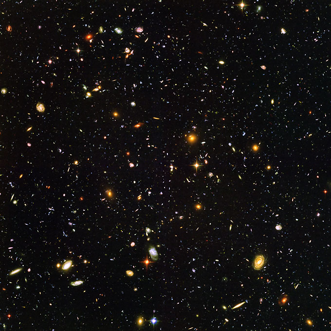 Massive Cluster of Galaxies by Hubble Telescope New 8x10 Space Photo
